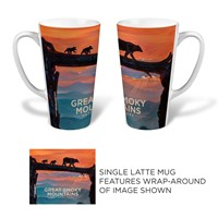 Great Smoky Bear Crossing Latte Mug