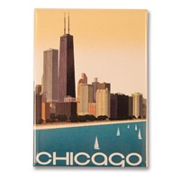 Chicago Skyline Metal Magnet
