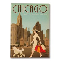 Chicago Michigan Avenue Metal Magnet