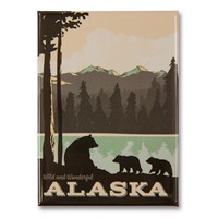 AK Bear Lake Family Metal Magnet