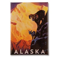 AK Bighorn Sheep Metal Magnet