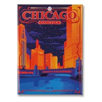 Celebrate Chicago Metal Magnet
