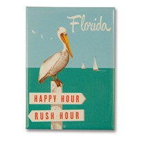 FL Rush Hour / Happy Hour Metal Magnet