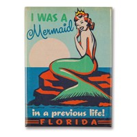 FL Mermaid Queen Metal Magnet