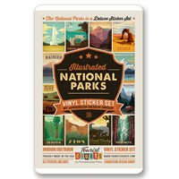 National Parks 62 Vertical Sticker Set