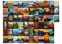National Parks 61 Assorted Metal Magnet Set