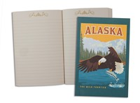 AK Eagle & Salmon Pocket Journal
