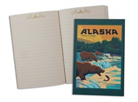 AK Fishing Bears Pocket Journal