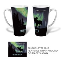 MN Northern Lights Moose Latte Mug