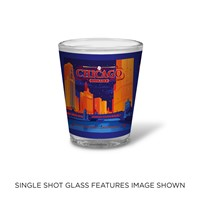 Celebrate Chicago Shot Glass