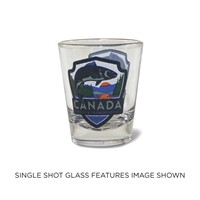 Canada Fish Emblem Shot Glass