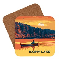 Rainy Lake Canoe Coaster