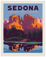 "Sedona Cathedral Rock 8"" X 10"" Print"