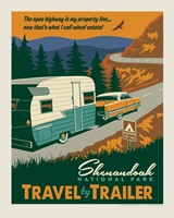 "Shenandoah Travel by Trailer 8"" X 10"" Print"