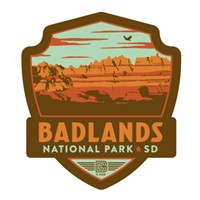 Badlands NP Emblem Sticker