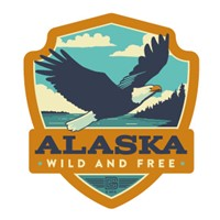 Alaska Eagle Emblem Sticker