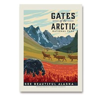 Gates of the Arctic NP Vertical Sticker
