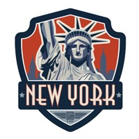 NYC Statue of Liberty Emblem Sticker