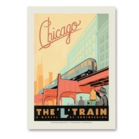 Chicago L-Train Vertical Sticker