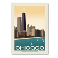 Chicago Skyline Vertical Sticker
