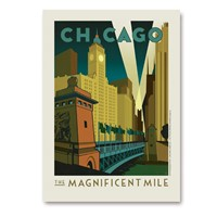 Chicago Magnificent Mile Vertical Sticker