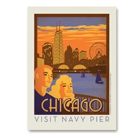 Chicago Navy Pier Vertical Sticker