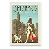 Chicago Michigan Avenue Vertical Sticker
