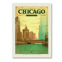 Chicago St. Patty's Day Vertical Sticker
