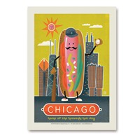 Chicago Hotdog Vertical Sticker