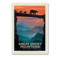 Great Smoky Bear Crossing Vertical Sticker