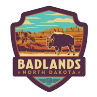 Badlands, ND Emblem Sticker