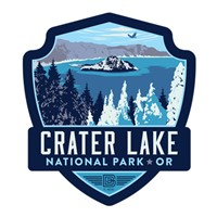 Crater Lake Emblem Sticker