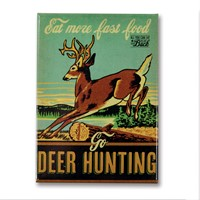 Deer Hunting Metal Magnet
