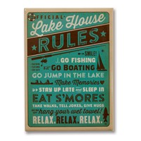 Lake House Rules Metal Magnet