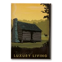 Cabin Luxury Living Metal Magnet