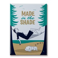 Lake Made In Shade Metal Magnet