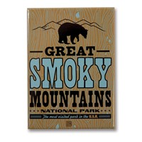 Great Smoky Print Shop Metal Magnet