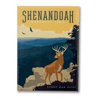 Shenandoah Buck Overlook Metal Magnet