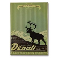 Denali Explore Majesty Metal Magnet