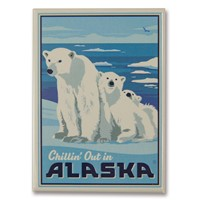 AK Polar Bears Metal Magnet