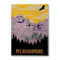Mt. Rushmore Metal Magnet