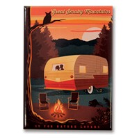 Great Smoky Camping Metal Magnet