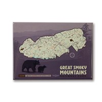 Great Smoky Map Metal Magnet