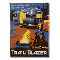 Great Smoky Trailer Blazer Metal Magnet