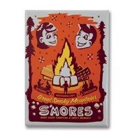 Great Smoky Smores Metal Magnet