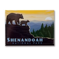 Shenandoah Mountaintop Metal Magnet