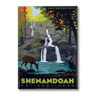 Shenandoah Dark Hollow Falls Metal Magnet