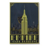 Empire State Building Metal Magnet