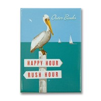 Outer Banks Rush Hour / Happy Hour Metal Magnet