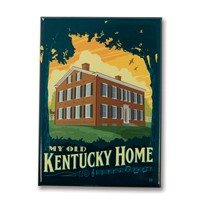 My Old Kentucky Home Metal Magnet